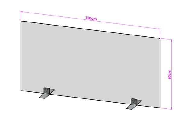 Acrylglas Spuckschutz-Scheibe - 120x60cm ohne Durchreiche
