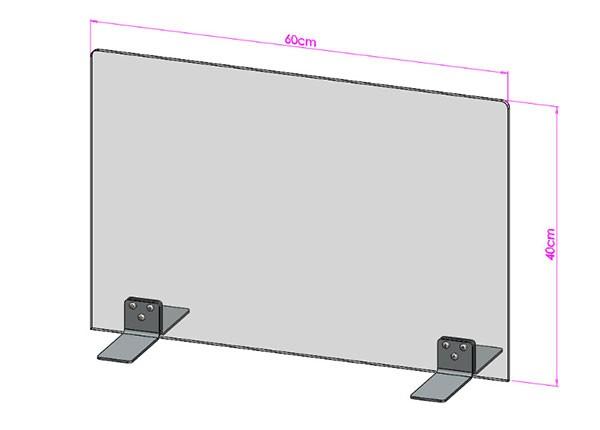 Acrylglas Spuckschutz-Scheibe - 60x40cm ohne Durchreiche