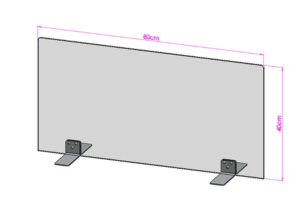 Acrylglas Spuckschutz-Scheibe - 80x40cm ohne Durchreiche