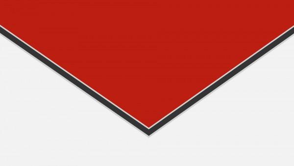 Alu-Verbund ALUCOM Rot (ähnlich RAL 3020)