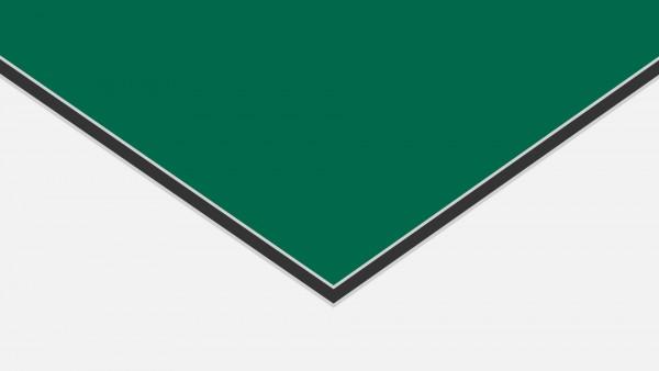 Alu-Verbund ALUCOM Grün (ähnlich RAL 6016)
