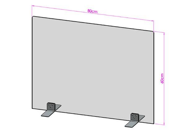 Acrylglas Spuckschutz-Scheibe - 80x60cm ohne Durchreiche