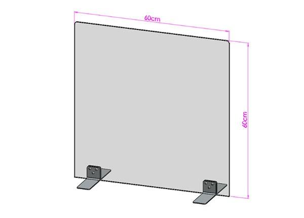 Acrylglas Spuckschutz-Scheibe - 60x60cm ohne Durchreiche