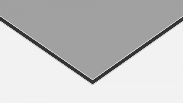 Alu-Verbund ALUCOM Silber (ähnlich RAL 9006)
