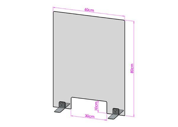 Acrylglas Spuckschutz-Scheibe - 60x80cm mit Durchreiche
