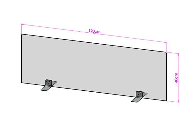Acrylglas Spuckschutz-Scheibe - 120x40cm ohne Durchreiche