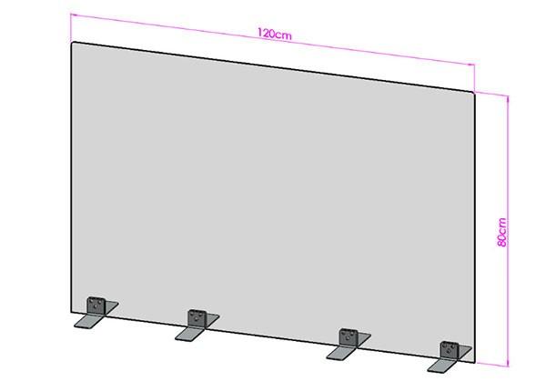 Acrylglas Spuckschutz-Scheibe - 120x80cm ohne Durchreiche